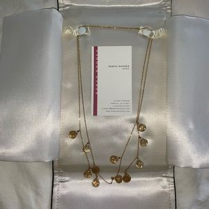 Robyn Rhodes Yellow Topaz & Gold Necklace